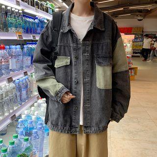 jaywoon - 雙色牛仔夾克
