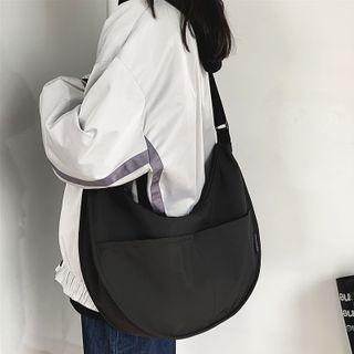 SUNMAN - Plain Zip Crossbody Hobo Bag