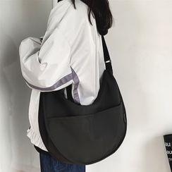 SUNMAN(サンマン) - Plain Zip Crossbody Hobo Bag