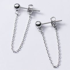 A'ROCH(エーロック) - 925 Sterling Silver Chained Earring