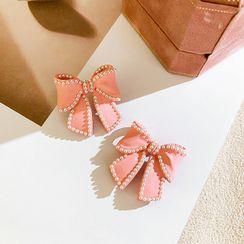 Schweetums - Faux Pearl Bow Earring