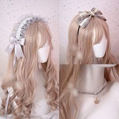 Elfis - 蕾絲蝴蝶結頭帶 / 頭飾 / 髮夾 / 貼脖項鏈