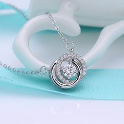 Zundiao - Sterling Silver Rhinestone Necklace