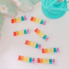 Hello minto - Rainbow Acrylic Gummy Bear Hair Clip