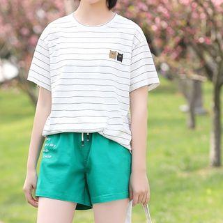 YICON - Short-Sleeve Striped T-Shirt