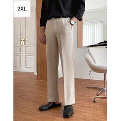 JOGUNSHOP(ジョグンショップ) - Band-Waist Straight-Leg Pants