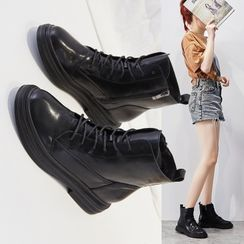 Siji - Lace-Up Short Boots