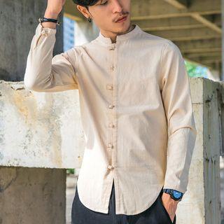 Sheck(シェック) - Long-Sleeve Cheongsam Top