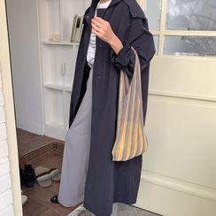 FROMBEGINNING - Hooded Long Nylon Coat