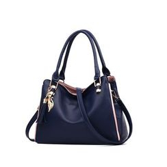 Aquilegia - Faux Leather Carryall Bag