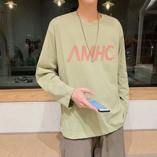 Acrius(アクリウス) - Lettering Long-Sleeve T-Shirt