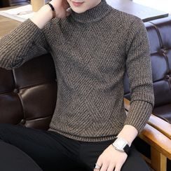 Wild Dragon - Long-Sleeve Mock Neck Knit Top