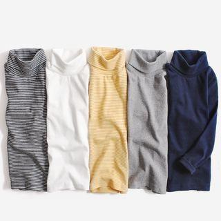 Happy Go Lucky - Kids Long-Sleeve Turtleneck T-Shirt
