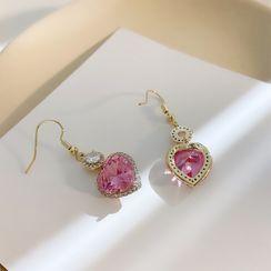 Infini - Rhinestone Heart Dangle Earring