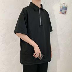 Fresco - 短袖半拉鏈馬球衫