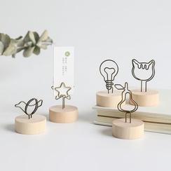 ASHIE - 线艺木质留言夹 (多款设计)