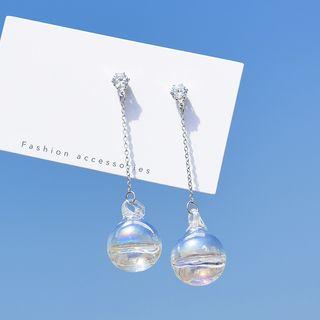 Bmuse - 玻璃球形耳环
