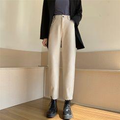 Karnel - 純色直筒褲