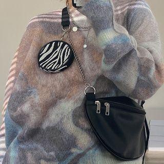 NiniChloe - Chain Zip Crossbody Bag with Coin Purse