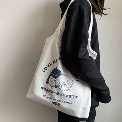 Chocolate Cosmos - 卡通印花帆布手提袋