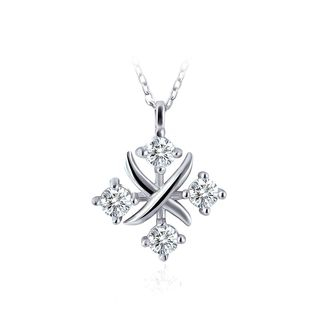 BELEC - 925 Sterling Silver Horoscope Pendant with White Austrian Element Crystal and Necklace