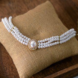 Ashmi - 多層仿珍珠項鏈