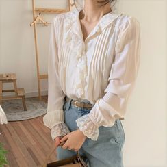 Pomona - Lace Trim Blouse