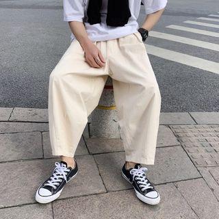 MIKAEL - Plain Wide-Leg Pants