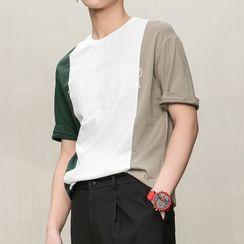 Orizzon - Color Block Short-Sleeve T-Shirt