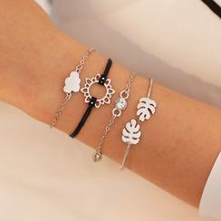B.muse - Set: Alloy Leaf Bracelet (assorted designs)