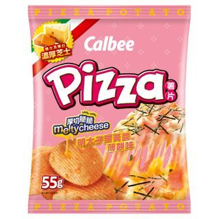 Calbee - Mentaiko Mayonnaise Pizza Flavoured Potato Chips 55g