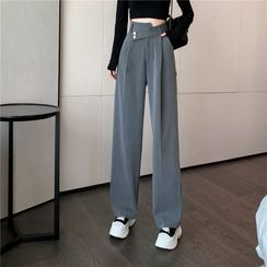 NERYNE - 高腰宽腿西裤
