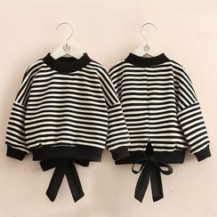 Seashells Kids - Kids Striped Tie-Hem Pullover