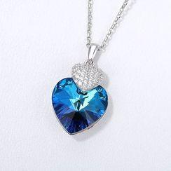 Muscovite - 施华洛世奇元素水晶心心项链