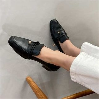 MONOBARBI - Square-Toe Low-Heel Foldable Loafers