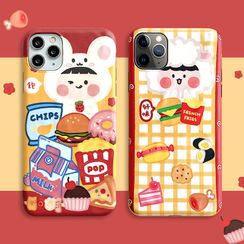 Mobby - Cartoon Print Mobile Case - iPhone 11 Pro Max / 11 Pro / 11 / XS Max / XS / XR / X / 8 / 8 Plus / 7 / 7 Plus / 6s / 6s Plus