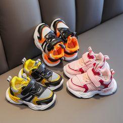 Doradas - Kids Mesh Panel Lace-Up Velcro Athletic Sneakers