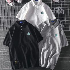 Dragondra - Printed Short Sleeve Polo Neck Shirt