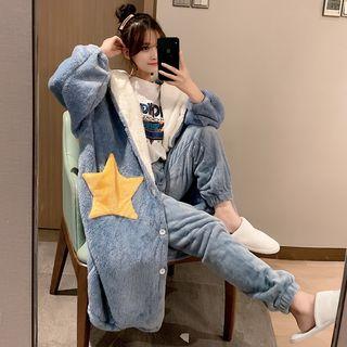 Endormi - Pajama Set: Flannel Hooded Jacket + Pants