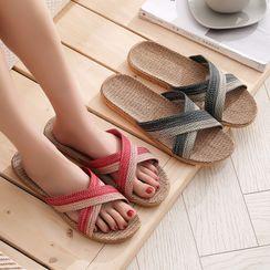 Furana - Cross Strap Slippers