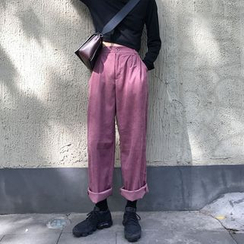 monroll - 燈芯絨寬腿長褲