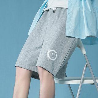 Ninine - Smiley Face Print Shorts