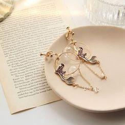 HayHill - 合金美人魚玻璃飾珠耳墜