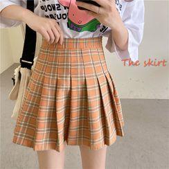 Sisyphi - Pleated Mini Skirt