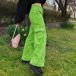 Puffie - 宽腿灯芯绒工装裤