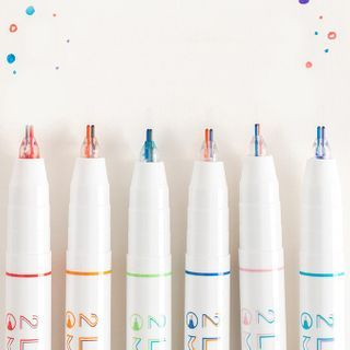 Thana - Dual Color Double Lined Marker Pen