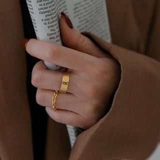 MOMENT OF LOVE - Stainless Steel Chain Ring