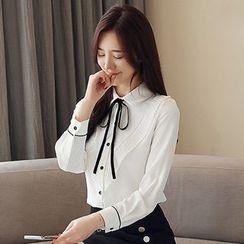 Ashlee - 蝴蝶结领衬衫