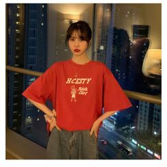 Whoosh(ウーシュ) - Couple Matching Elbow-Sleeve T-Shirt Dress