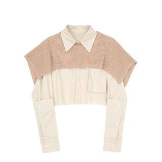JIN STUDIOS - 假两件短款衬衫